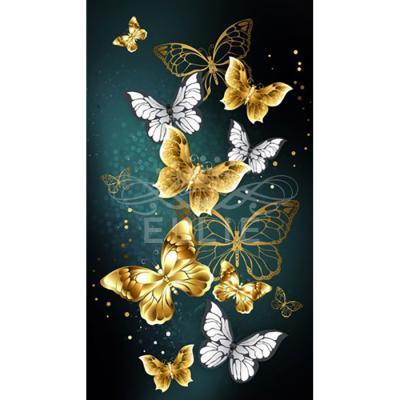 황금나비 골드 (패브릭) 보석십자수 30x50