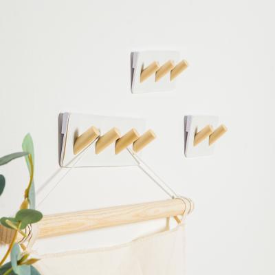 모노플랫 원목 똑또기핀 직사각 4종 벽지핀 후크핀