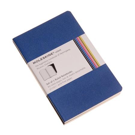 몰스킨 볼란트 룰드 노트북 (포켓) - 블루