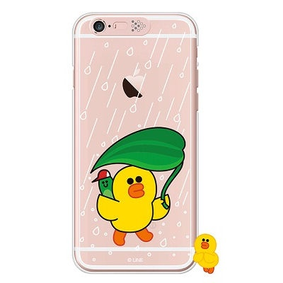 [SG DESIGN]iPhone6/ iPhone6 Plus 라인프렌즈 샐리 RAIN LIGHT UP Case-Rose Gold(하드타입/라이팅)