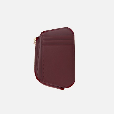 Reims Pebble Card Wallet burgundy 페블 카드 월렛 버건디
