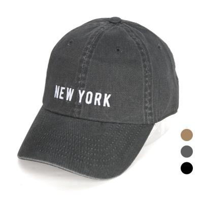 [디꾸보]뉴욕 레터링 코튼 볼캡모자 AC616