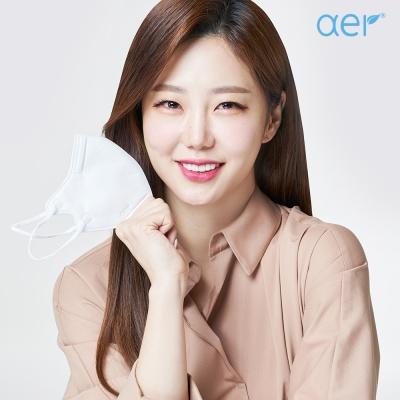 [아에르] 스포츠핏 KF94 마스크 그레이 10매
