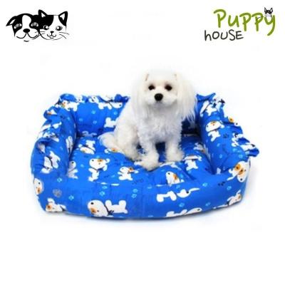 퍼피하우스 도그캐릭터 강아지 방석 (블루)