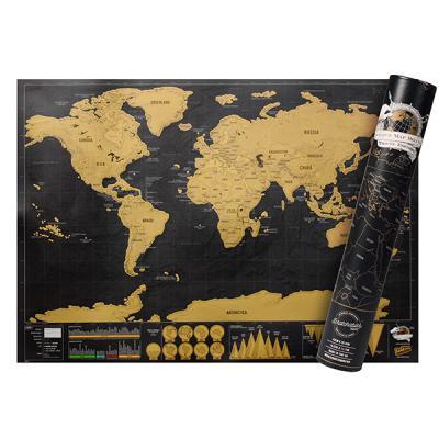 럭키스 스크래치 맵 세계지도 디럭스 (소형)