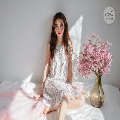[쿠비카]브이레이스 민소매 원피스 여성잠옷 WM150