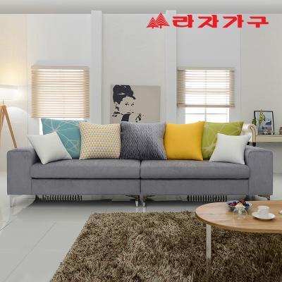 코시티 그레이 패브릭 쇼파 4인용-쿠션 포함