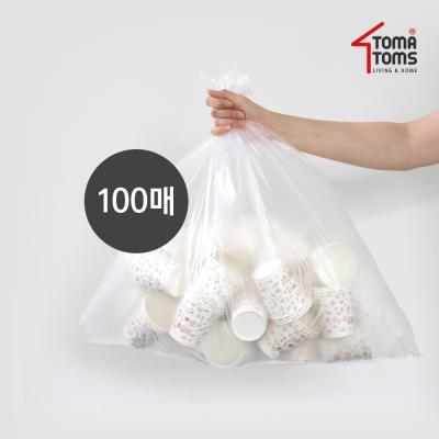 [토마톰스]쓰레기/분리수거함 비닐봉투 40L 100매