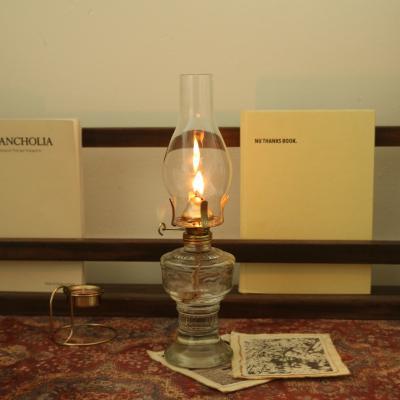 감성 빈티지 파라핀 오일램프 유리 엔틱 캠핑 램프