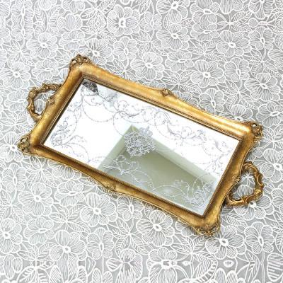 (kkjj150)황금장식 장식쟁반 (빈티지)