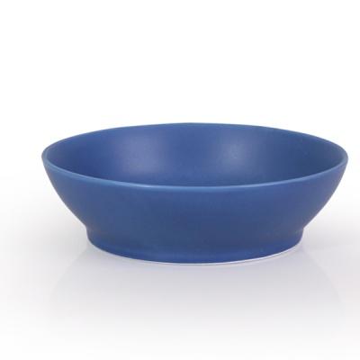 매트 오발 국물 대접시(블루)