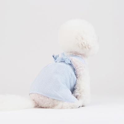 스니프 X 스트랩 스트라이프 드레스 (블루)