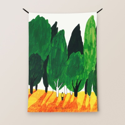 패브릭 포스터 / 나무소리