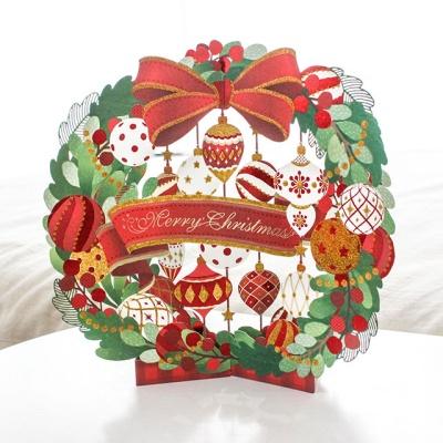 크리스마스 입체 리스카드 / 058-CM-0001