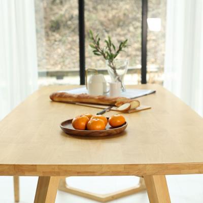 [채우리] 이랑 6인 원목 식탁+벤치1