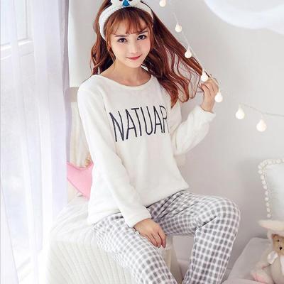 Winter 우먼 NATUARL 융털 잠옷 상하세트 CH1513518
