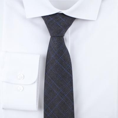 체크 차콜 넥타이 N390
