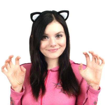 화이트 캣츠 고양이 머리띠