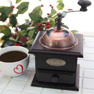 월넛 엔틱 커피 분쇄기