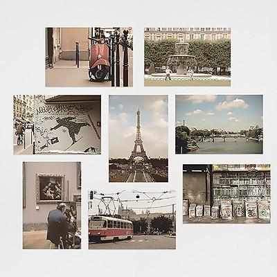 I LOVE PARIS - Post Card 8종set