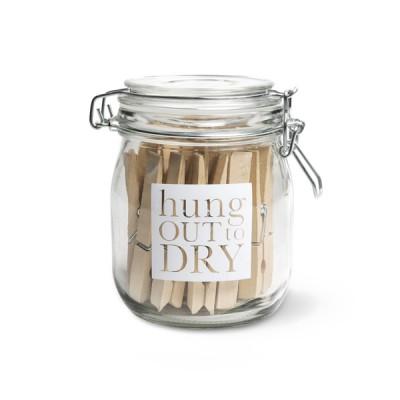 [Garden Trading]Glass Storage Jar Hung Out to Dry SJHD01 빨래집게/유리병 셋트
