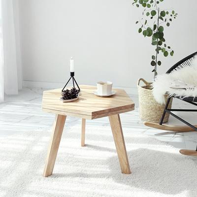 벤트리 원목 육각 사이드 테이블