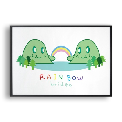 rainbow bridge / 일러스트 액자
