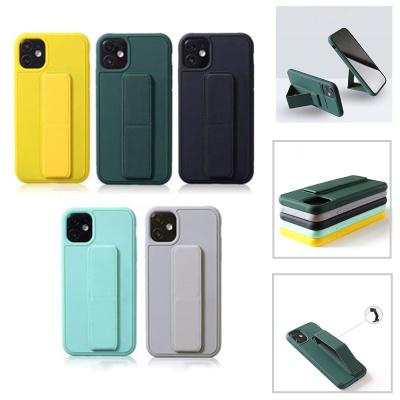 아이폰11 pro max 스트랩 거치대 컬러 젤리 폰 케이스