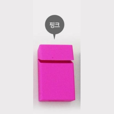 일반형 실리콘 담뱃케이스 핑크 담뱃갑 담뱃캐이스