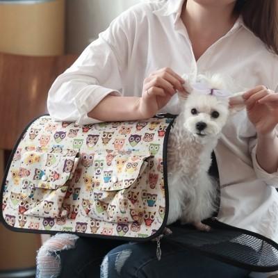 2015 New 애견 패션 이동장 - 부엉이 이동가방/강아지 가방/애견 가방