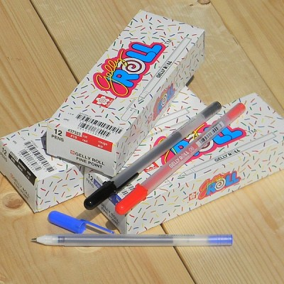 [SAKURA] 중성펜의 오리지널-일본 사쿠라 0.6mm gelly ROLL Fine 1다스(12개입)