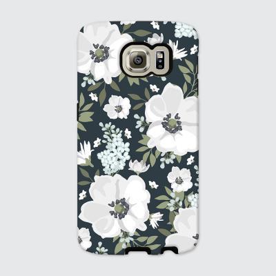 [듀얼케이스] White Flower-A (갤럭시)