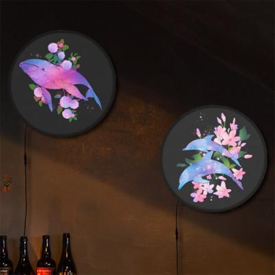nh292-LED액자25R_꽃과돌고래