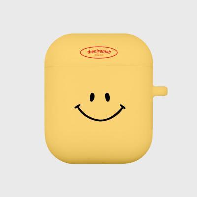 스마일 에어팟 케이스[yellow]
