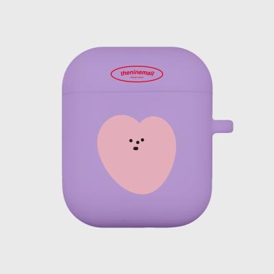 heart 심플 에어팟 케이스[purple]