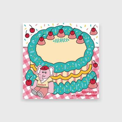 kkikki cherry cake(떡메모지)