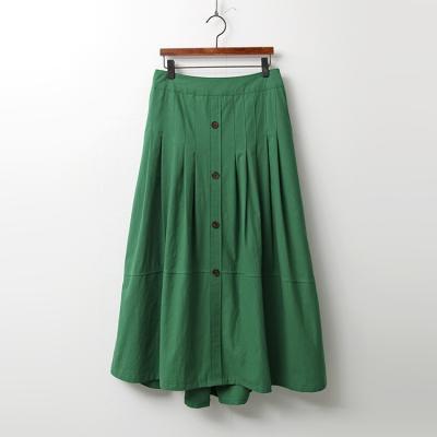 Pintuck Cotton Full Long Skirt