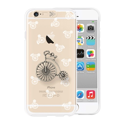[SG DESIGN] iPhone6/6S SG Lighting Clear Hand-made Case - Clear Bicycle (Vintage)