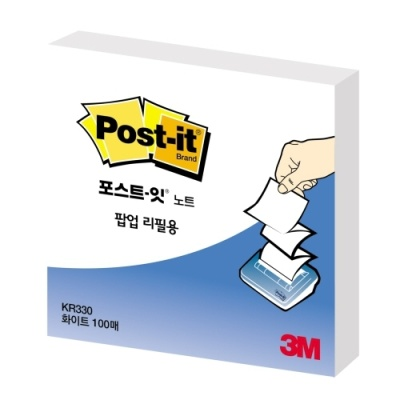 [3M] 포스트잇 팝업리필KR-330 화이트 [개/1] 357033