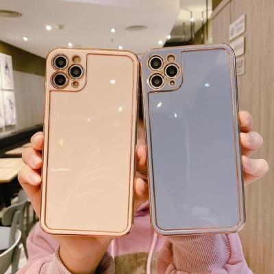 아이폰11 PRO MAX 골드라인 슬림 글리터 실리콘케이스