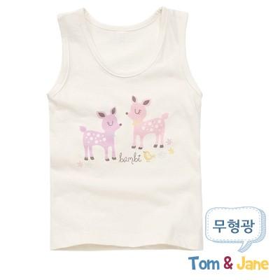 [탐앤제인] 편안한무형광 여아런닝 꽃사슴