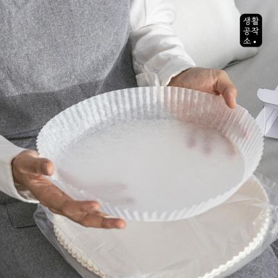 [생활공작소] 종이호일 접시형 50매 x 1입(중형)
