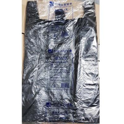 업소용 식당 비닐 쇼핑백 검정색 48 x57cm 70매 X20