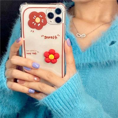 아이폰12 11 PRO MAX SE2 8 플라워 투명 젤리 케이스