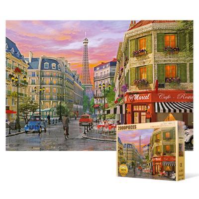 2000피스 직소퍼즐 - 파리 비오는 날의 풍경 (미니)
