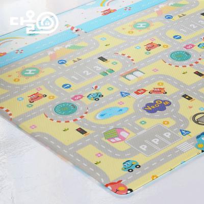 부릉부릉 거실 양면매트 PVC매트 200X140X14T