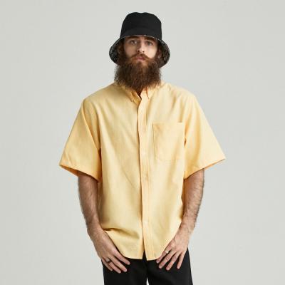 CB 옥스포드 반팔 셔츠 (옐로우)