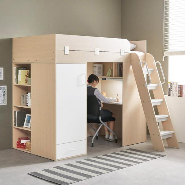 [e스마트] 하우스 독서실책상 벙커침대+매트포함