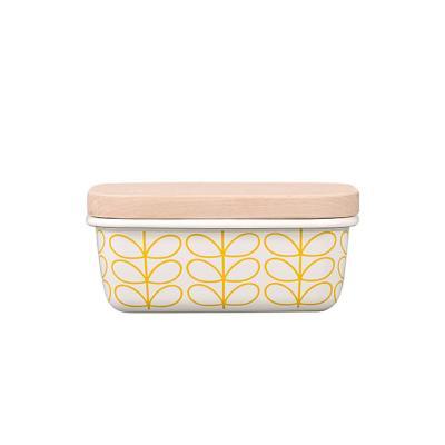 [올라카일리] 에나멜 법랑 버터접시 화이트