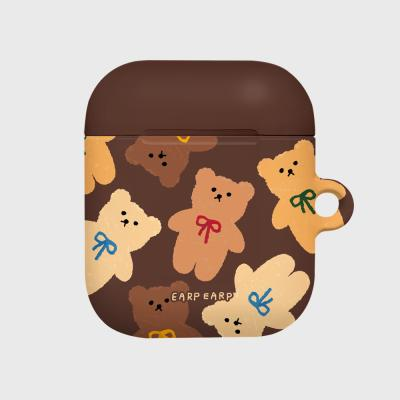 Dot ribbon bear-brown(Hard air pods)